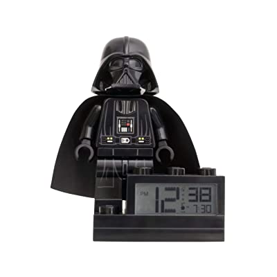 ClicTime Darth Vader Lego Star Wars Clock, 6 inches: Home & Kitchen