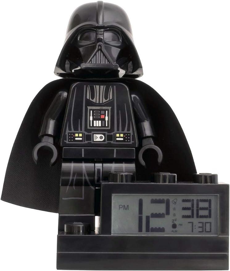 Réveil Figurine Dark Vador LEGO Star Wars sur Socle avec Sons caractéristiques