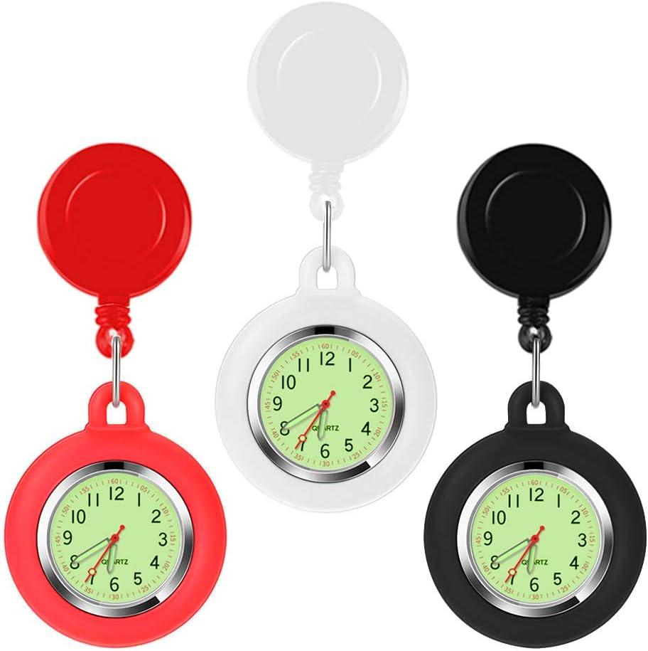 3 Pcs Stretch Adjustable Length Pocket Watch Nurse Watch