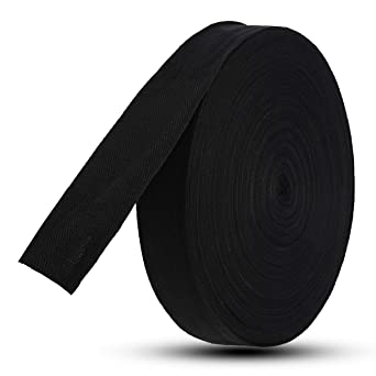 """50 mm 2/"""" Large Solide Noir 100/% Coton Toile Ruban Bunting sangles ceintures bretelles"""