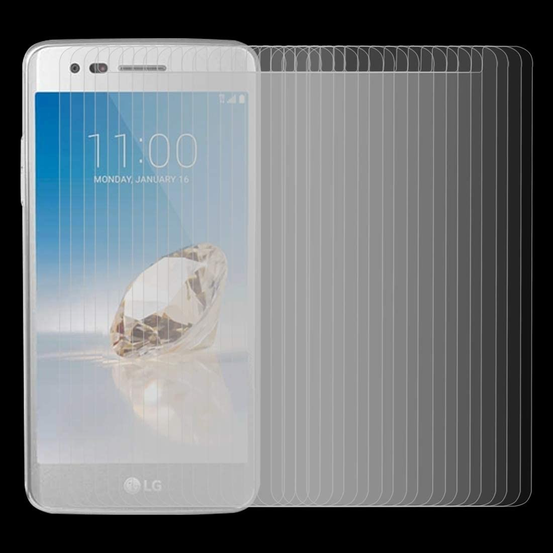 No Retail Package GzPuluz Glass Protector Film 50 PCS for LG Aristo 2 0.26mm 9H Surface Hardness 2.5D Explosion-Proof Tempered Glass Screen Film