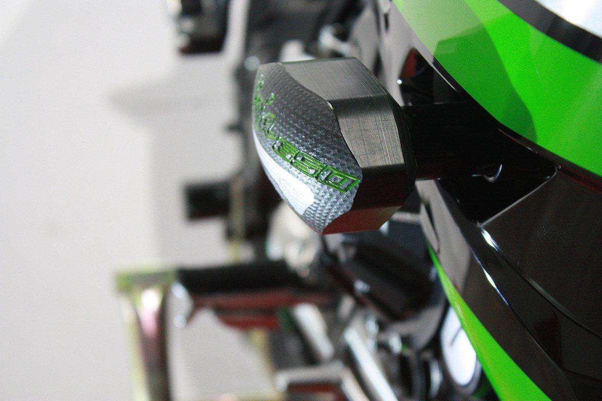 2017-On T-Rex Racing Kawasaki Ninja 650 / ABS/KRT Edition No Cut Frame Sliders (Green)