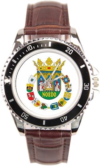 Ser un Hombre Negro Reloj de Acero Inoxidable Sevilla España Bandera Pulsera de Acero Inoxidable: Amazon.es: Relojes