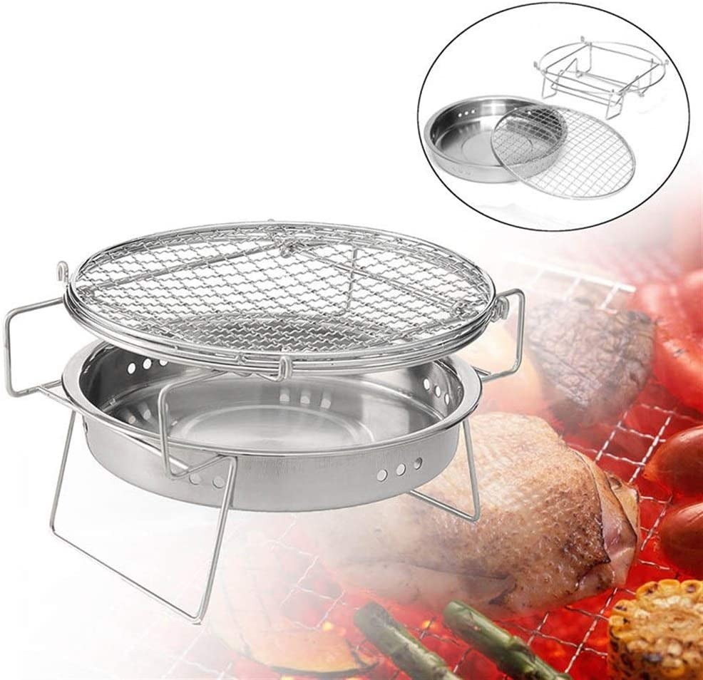 YF Mini BBQ Grill Barbecue en Acier Inoxydable Pliant Barbecue Accessoires de Cuisine Portable Outils de Cuisine for Camping en Plein air Outils de Barbecue (Color : Large) Large