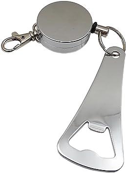 Práctico rollmatic Llavero con abrebotellas en Metal en Plata