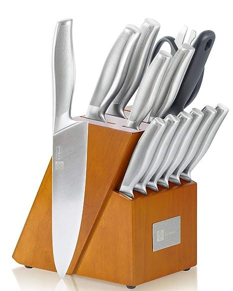 Amazon.com: Juego de bloques de cuchillos de cocina de una ...