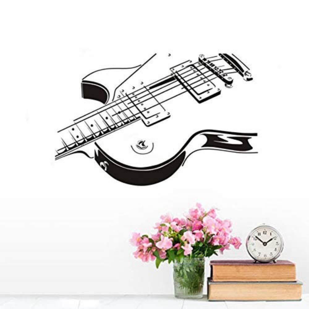 Pegatinas de pared de bricolaje de guitarra eléctrica ahueca hacia fuera el diseño de la sala de estar de fondo Mural Decal 89X58Cm: Amazon.es: Bricolaje y ...