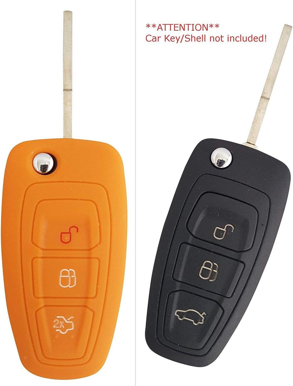 CK FORD Auto de llave m/óvil Key Cover Case Funda Silicona para Focus Kuga Mondeo Galaxy