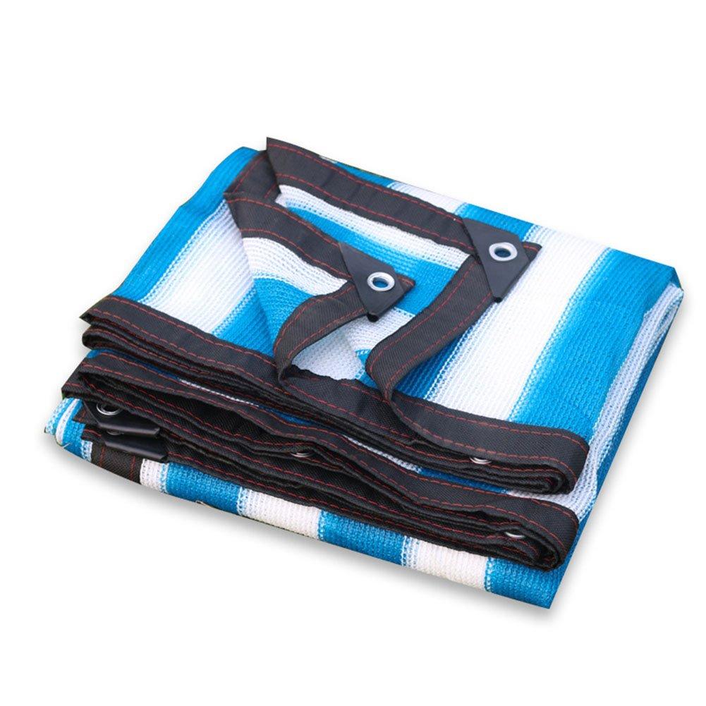 bleu blanc 5x5m MDBYMX Filet d'ombrage Filet d'ombrage, abri de Voiture de cryptage écran Solaire Net Filet de Jardin succulentes Plante Verte Isolation Net Filet de Prougeection Filet de Tente