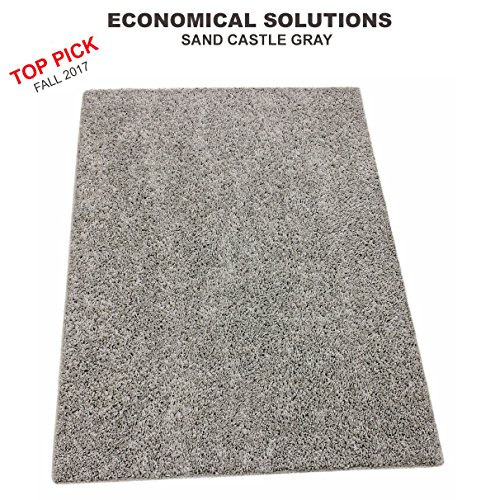 9'x12' - Sand Castle Gray ECONOMICAL SOLUTIONS Collection | Custom Carpet Area Rugs & Runners - 25 Oz. Soft Textured 100% PureColor BCF Polyester. FHA Approved-CRI Green Label-Made in (Sand Multi Area Rug)