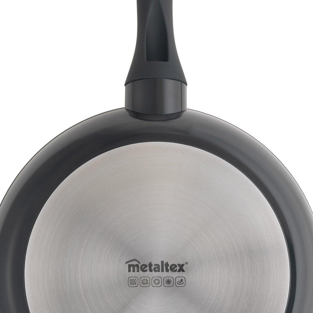 Metaltex NATIVA - Lote 3 Sartenes Aluminio Forjado, 20 + 24 + 28 cm, antiadherente Stone-Tex 2 capas , Full Induction válido para todo tipo de cocinas: ...