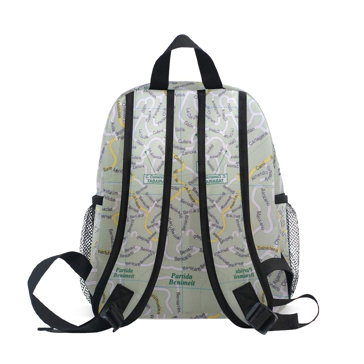 Amazon.com: MONTOJ Map Bookbag Travel Bag Packable School ...