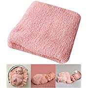 Bassion Newborn Photography Props Newborn Baby Stretch Long Ripple Wrap Yarn Cloth Blanket by