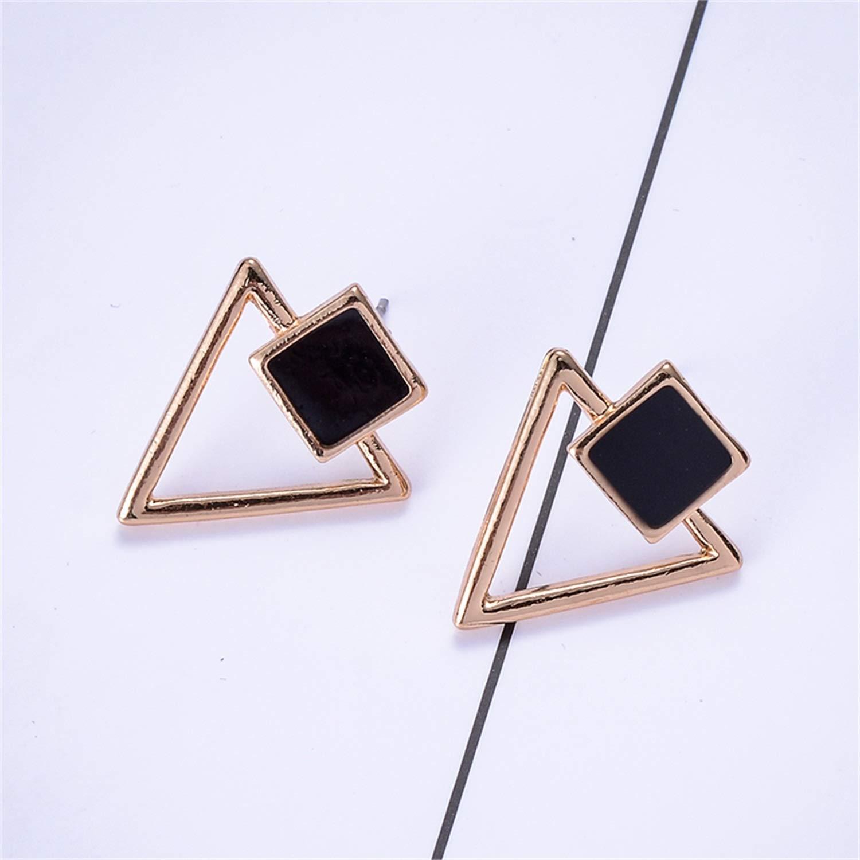 Bnialaed Dangle Earrings Kerst Oorbellen Voor Vrouwen BTS Drop Earrings Women Statement Jewelry Enamel Square Hollow Triangle Girl Elegant Earring