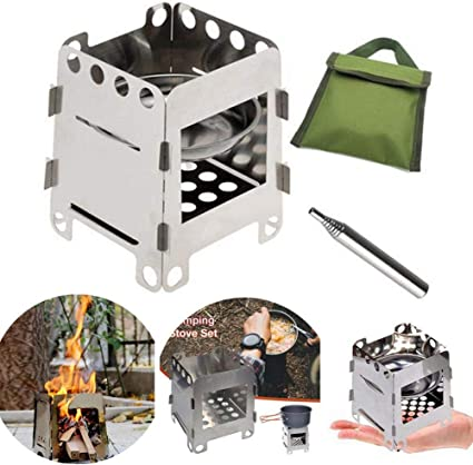 Fold Flat Surface Greenscapes Portable Backpacking and Camping Stove in Bronze