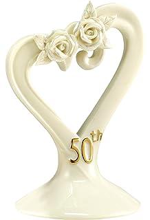 hortense b hewitt wedding accessories 50th anniversary pearl rose cake top