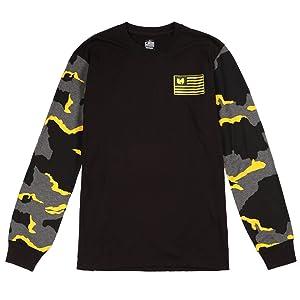 Wu-Tang Men's Iron Flag L/S Tee 44WU0701 Black SZ M