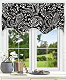 Ellis Curtain Walker 50″ x 15″ Lined Scallop Valance, Black Review