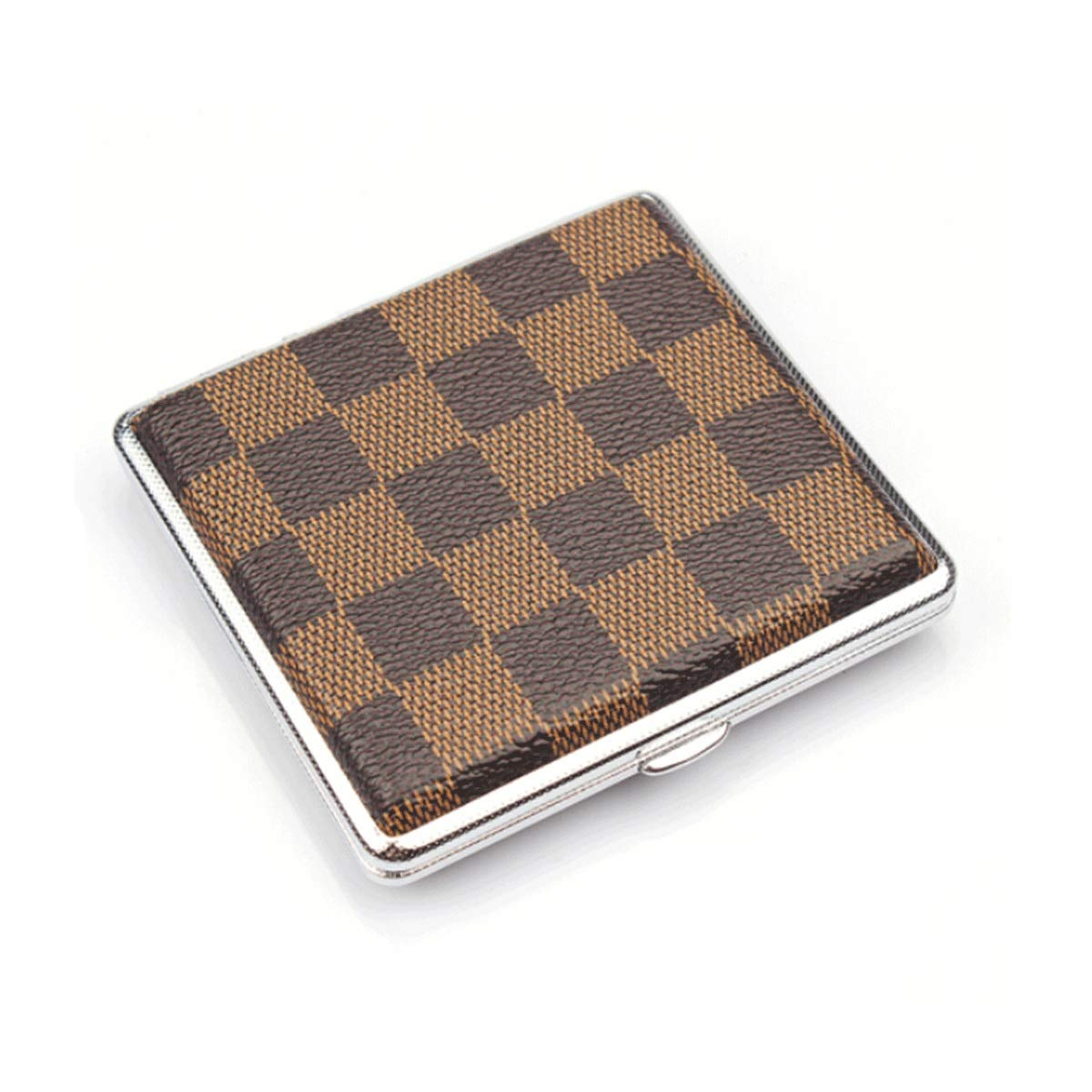 WENPINHUI Cigarette Case Creative Metal Cigarette Case Personality Lattice Cigarette Case Automatic Pop-up Cigarette Box Can Accommodate 20 Cigarettes by WENPINHUI