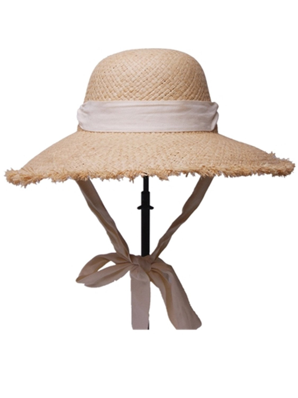 a3a3394293756 Amazon.com  Sllxgli straw hat hat hard female summer hat Raffia straw hat  flat top hat  Health   Personal Care