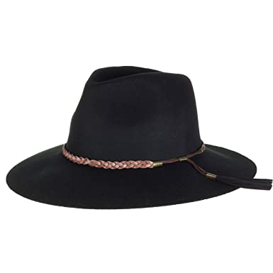 f14688a0569 Image Unavailable. Image not available for. Color  BROOKLYN HAT CO. BLACK  GEMMA RANCHER WOOL FELT ...