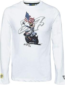 Kevin Schwantz 3502-06 - Camiseta de manga larga, diseño de Kevin Schwantz 34 de MotoGP, color blanco: Amazon.es: Deportes y aire libre