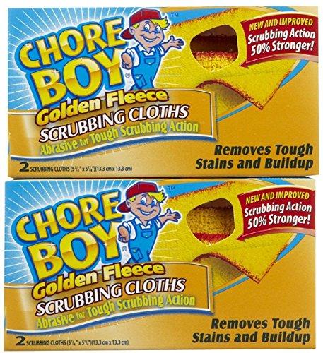 Chore Boy Golden Fleece Scrubbing Cloths   2-Units per Pack   12-Pack Total