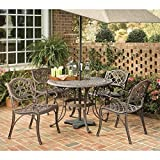 Home Styles 5555-308 Biscayne 5-Piece Outdoor Dining Set, Rust Bronze Finish, 42-Inch For Sale