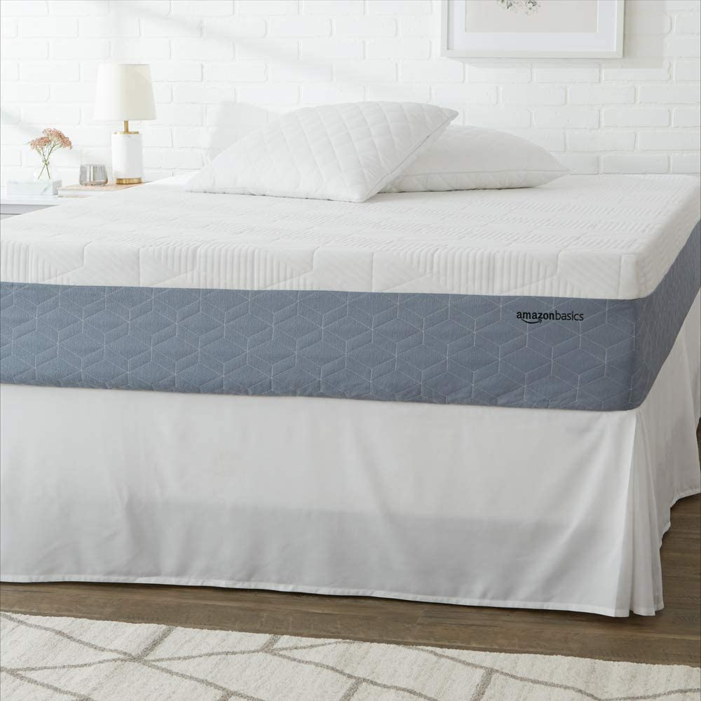 AmazonBasics Cooling Gel-Infused, Medium-Firm, Memory Foam Mattress, CertiPUR-US Certified - 12 Inch, Twin