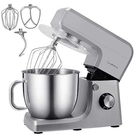 Cookmii 1800W Batidora Amasadora Repostería Profesional Robot de Cocina Automática Multifuncional Amasadoras de pan Capacidad de 6,5 litros,6 ...