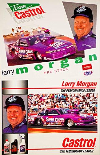 (1994 - NHRA - Winston Drag Racing - Larry Morgan - Pro Stock - Oldsmobile Cutlass / Team Castrol / Super Clean - Bob Panella Racing - 2 Hero Cards)