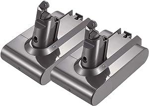 2-Pack 21.6V 3000mAh Battery Compatible with V6 DC58 DC59 DC61 DC62 Animal 595 650 770 880 SV03 SV04 SV05 SV06 SV07 SV09 967810-03 967810-02 967810-23 Motorhead Absolute Fluffy Slim Battery