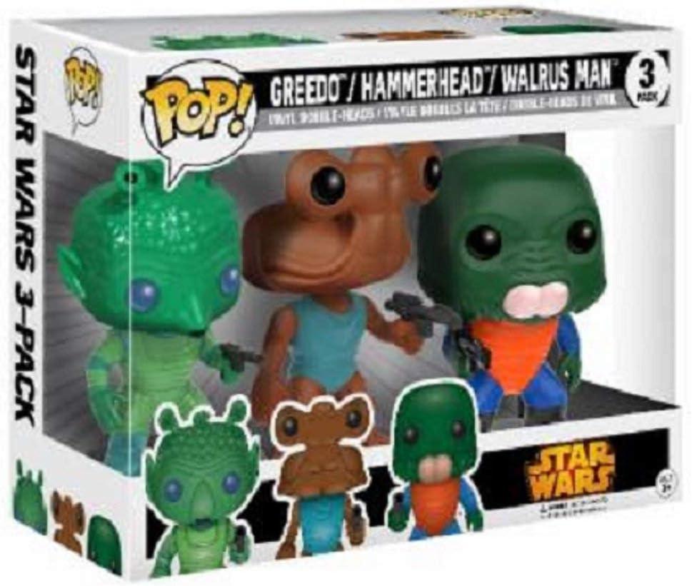 Funko POP Walrus Man Cantina Exclusive 3-Pack 11487 Hammerhead Star Wars: Greedo