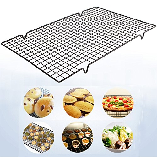 25x40cm Nonstick Cookie Baking Grid Outdoor BBQ Cooling Biscuit Cake Drying Stand Wire Pan Bakeware