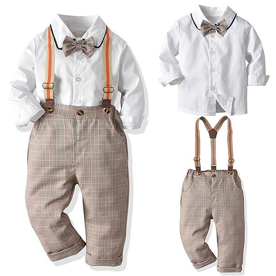 Hose Fliege Krawatte Kinder Anzug Gentleman Festliche Hochzeit Langarm Body f/ür Fr/ühling Herbst Hemd SANMIO Baby Jungen Bekleidungssets