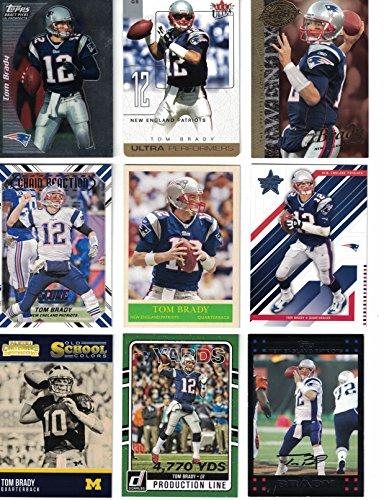 Tom Brady   9 Different Football Cards Featuring Tom Brady  Superbowl Mvp