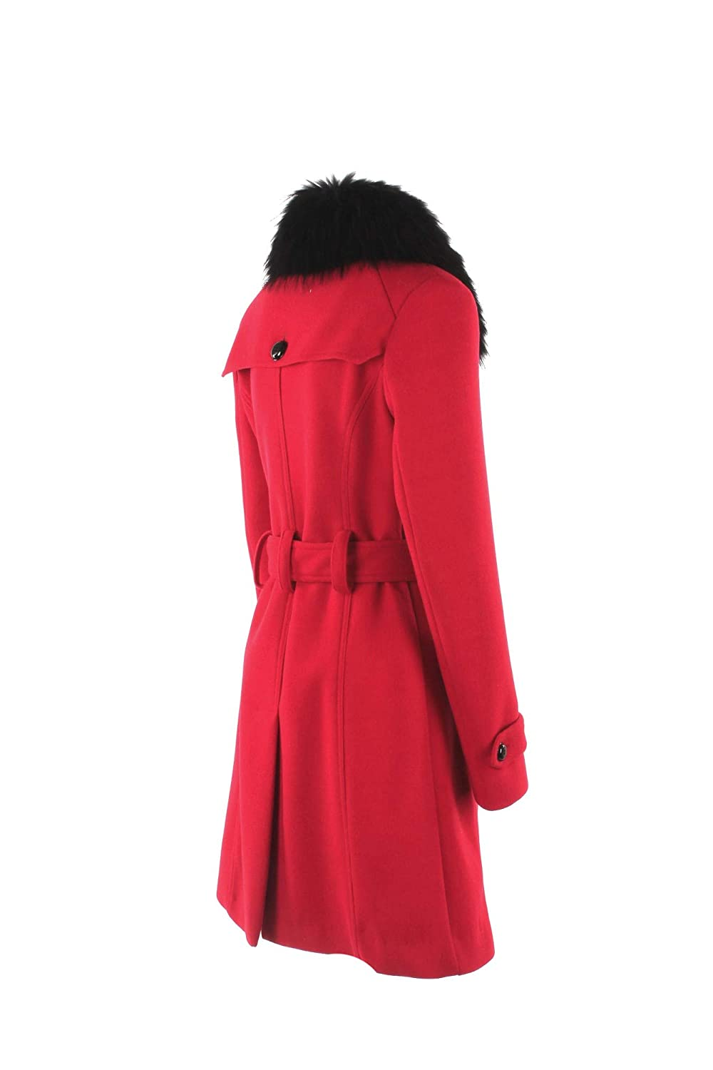 KOCCA Cappotto Donna L Rosso Ecrufur Autunno Inverno 2018 19  Amazon.co.uk   Clothing a11283087c7