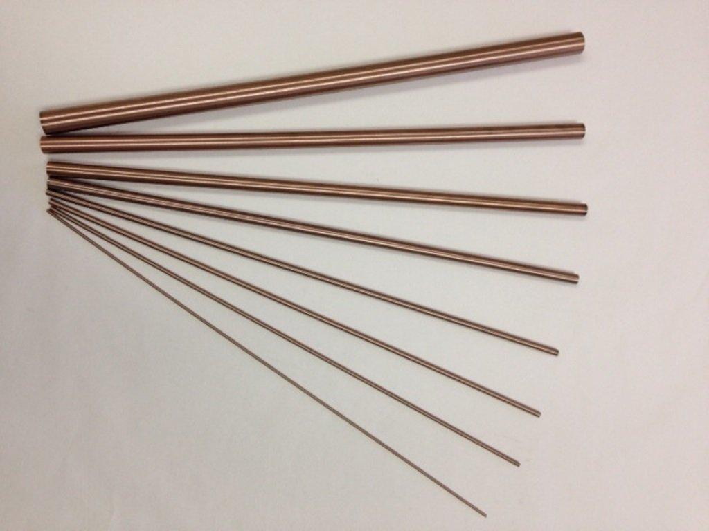 Copper Tungsten Round Rod 1/2''(d) x12''(l), 70% w 30% cu by Torrey Hills Technologies