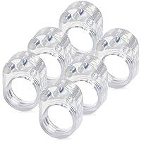 ATPWONZ 6pcs PVC Topes de Puerta Silicona Flexible Ideales para Proteger la Integridad de Paredes/Muebles(Transparente)