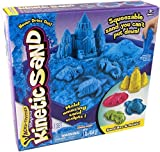 Kinetic Sand Sand Box & Molds Activity Set, Blue