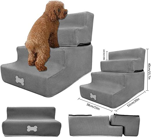 Escalera Para Mascotas Escalera Para Gatos Escalera Para Mascotas Con 4 Escalones, Extraíble De Cuatro Capas Extraíble Lavable Escalera De Malla De Ventilación Ventilada Para Perros Pequeños Gato: Amazon.es: Productos para mascotas