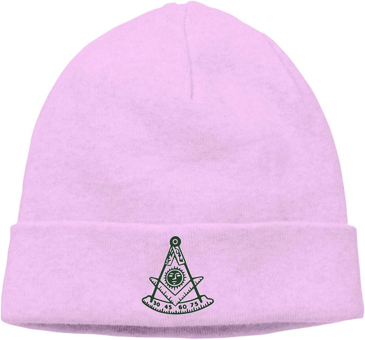 Freemason Sun Skull Caps Beanie Hats for Men Pink