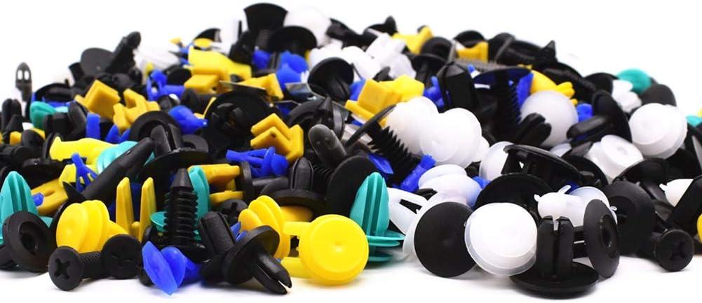 Cvian Lot de 500 clips de fixation en plastique pour voiture