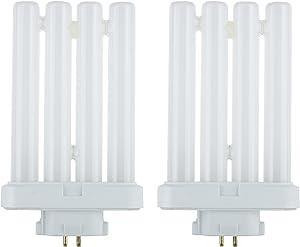 Sunlite Series FML27/65K/2PK Fluorescent 27W 6500K Daylight Quad Tube FML CFL Plugin Light Bulbs, 4-Pin GX10Q-4 Base, 2 Pack, 6500K-Daylight, 2 Count