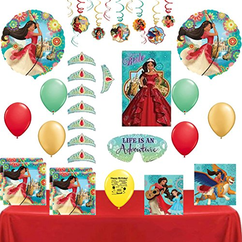 Combined Brands Elena of Avalor Party Supply and Balloon Decoration Bundle