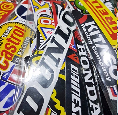 25 Pcs Mixed Random Motocross Motorcycle Car Racing Decal Stickers from Unknown