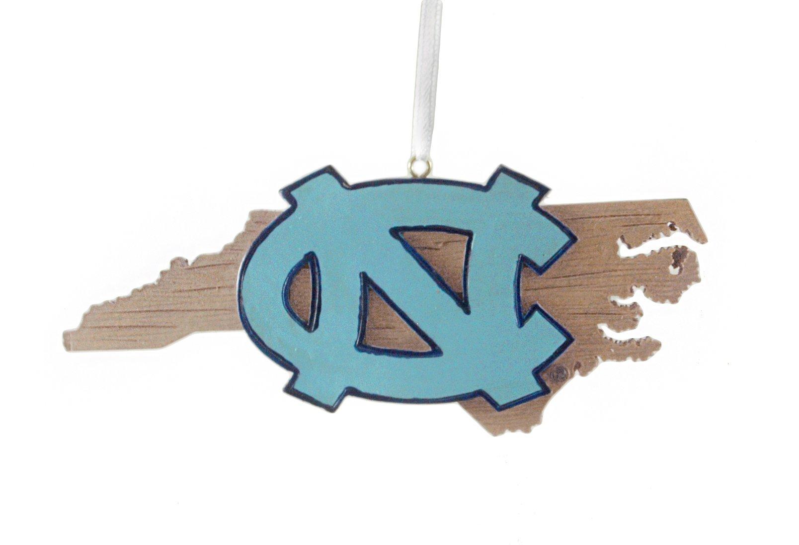 University of North Carolina Hanging State Shaped Ornament