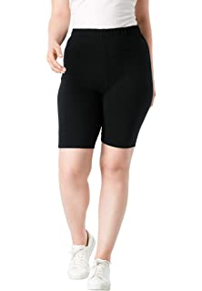 3a0a4e224 Amazon.com: Woman Within Women's Plus Size Stretch Cotton Bike Short ...