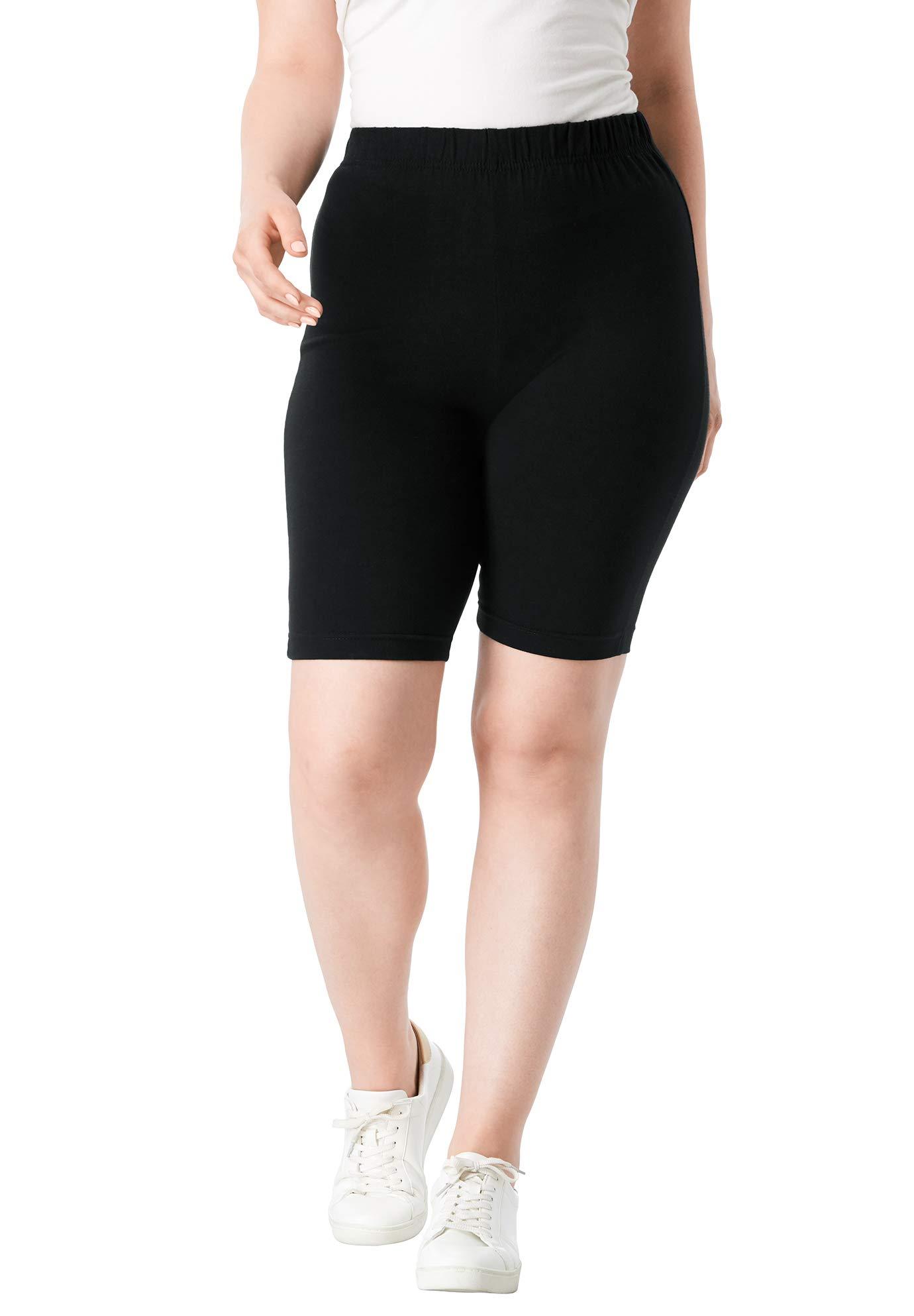 Roamans Women's Plus Size Essential Stretch Bike Short - Black, 3X by Roamans