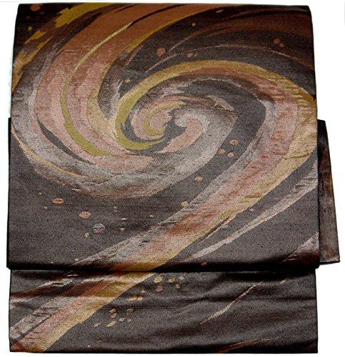 ハウジング大きい目的(桜楓) 和裁士が作った本格 二部式 正絹 作り帯 名古屋帯 つくり帯 軽装帯 ワンタッチ帯 LL 2L 3L 4L 5L 0031 tied obi divided into twoワンランク上の二部式